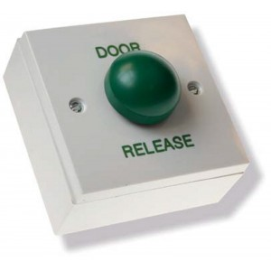 Door Release Exit Button with Green Dome Button